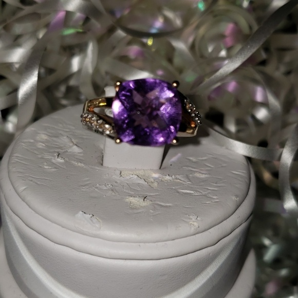 Jewelry - 10K RG/.925 AMETHYST RING